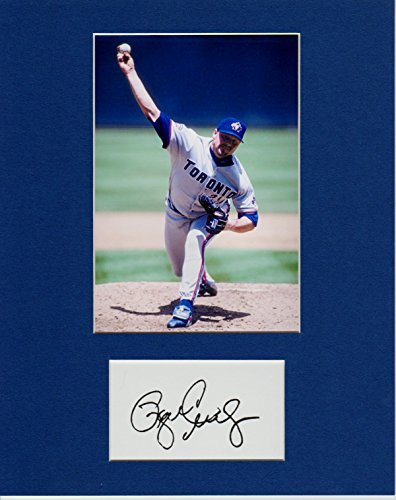 Big Action Roger Clemens, 8 X 10 Custom MATTED Photo Autograph Display