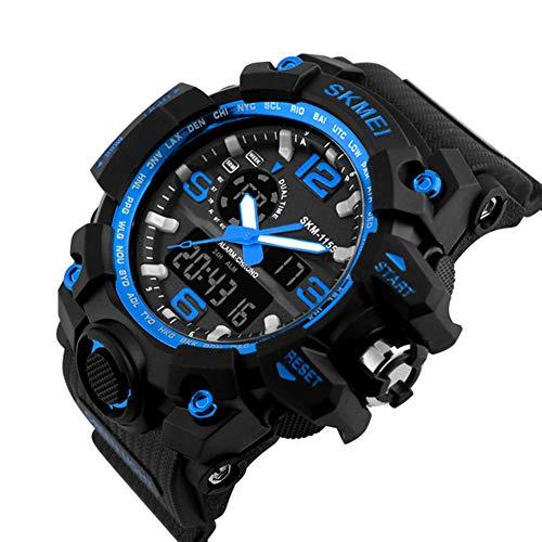 Reloj Analógico Y Digital Relojes Para Hombres Multifunción 50M Impermeable LED Casual Reloj De Digital Con Cronómetro Para Hombres Adolescentes Y Niño: ...