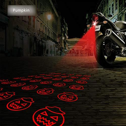 FOLCONROAD Halloween Pumpkin Decorations Motorcycles Brake Parking Anti-Collision Safety Warning Lights -