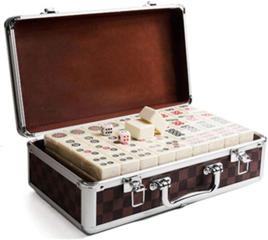 ゲーム 麻雀中国麻雀ホームレジャーボードゲーム中大手こすり麻雀カードギフト144個 (Color : White-B, Size : 3.8cm)