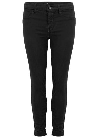 bd6faaa2725 J Brand - Anja Clean Cuffed Crop Jeans - Black  Amazon.co.uk  Clothing