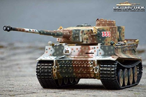 Licmas RC Panzer 2.4 GHz GHz GHz Tiger 1 Russia Spring 1943 Taigen V3 Metall-Edition 360°  6mm Schussfunktion Tank 1:16 0094e2