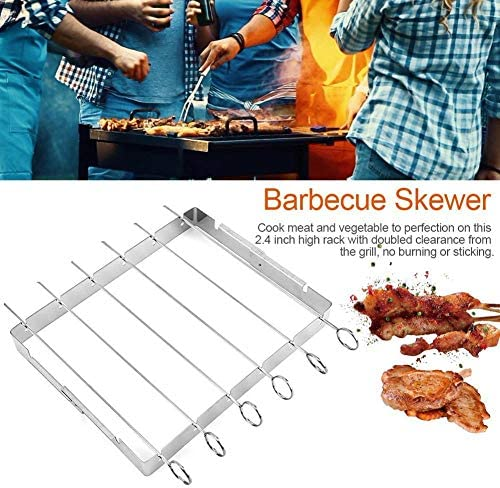 TeRIydF Stainless Steel Barbecue Sign Rack 360 Degree rotatable Barbecue Safety Kitchen Household Outdoor Barbecue
