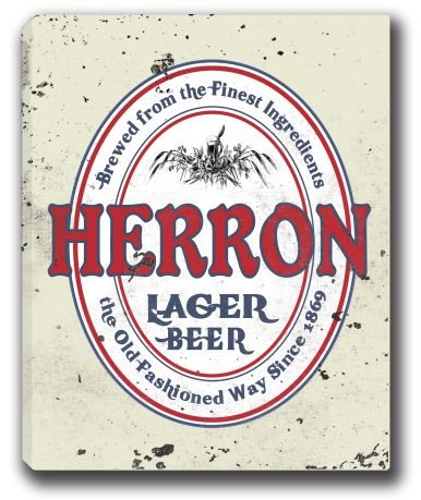 herron-lager-beer-stretched-canvas-sign-16-x-20