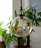 DEN Vintage chandelier personality creative bar restaurant living room clothing store chandelier,LED bulb,25cm