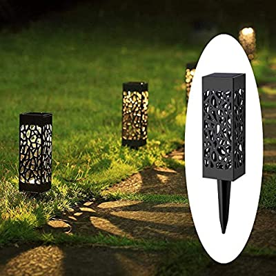 avepio 8 Pack Solar Powered LED Garden Lights, Solar Pathway Lights, Landscape Path Lights for Lawn, Patio, Yard, Walkway, Driveway
