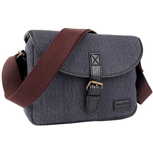 MANGKE Camera Cover Case Bag Retro Shoulder Handbag Waterproof Sling Photo Digital Video Removable Travel for DSLR EOS 200D 77D 7D 80D 800D 1300D 6D 70 P3E6 Oxford Cloth (Difference Between Canon 5d Mark Ii And Iii)
