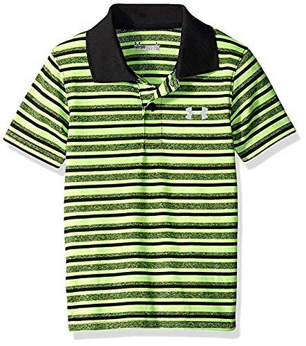 - Under Armour Boys' Ua Logo Short Sleeve Polo (4, Green Stripe)