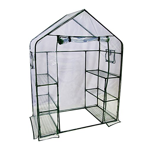 Abba Patio Mini Walk-in Greenhouse 6 Shelves Stands 3 Tiers Racks Portable Garden Green House, 56'' L x 29'' W x 77'' H by Abba Patio
