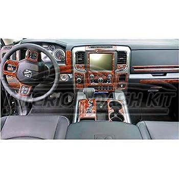 Dodge Ram 1500 2500 3500 Interior Wood Dash Trim Kit Set 2013 2014 2015