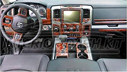 DODGE RAM 1500 2500 3500 INTERIOR WOOD DASH TRIM KIT SET 2013 2014 2015