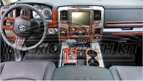 - Dodge RAM 1500 2500 3500 Interior Wood Dash Trim KIT Set 2013 2014 2015