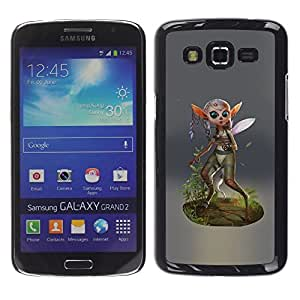 LECELL--Funda protectora / Cubierta / Piel For Samsung Galaxy Grand 2 SM-G7102 SM-G7105 -- Fairy Forest Wings Magic Nature Green Eco --