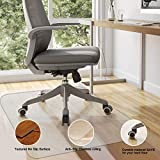 Komene Office Chair Mat: Make The Best Protection for Hardwood Floor,Multiple Sizes - BPA-Free and Rectangular Non-Toxic,48''×40'' Great Clear Thick Vinyl Mat for Rolling Chair and Computer Desk