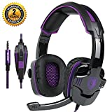 Game Headset Gaming Headphone Noise Cancelling Over Ear Headset SADES SA-930 3.5mm Stereo Sound Music with Mic Volume Control Gamer Headphone for PS4 New Xbox One Laptop Tablet PC Mobile For Sale