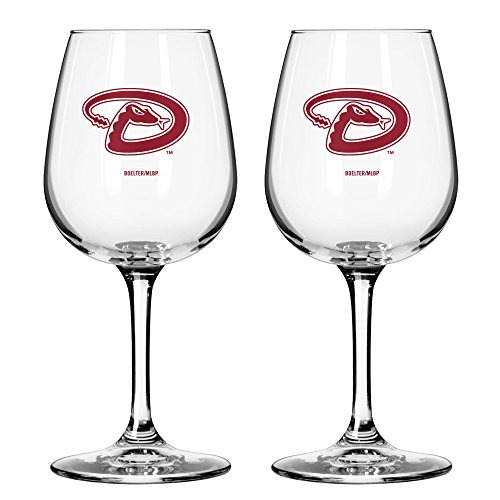 MLB Arizona Diamondbacks Game Day Wine Glass, 12-ounce, 2-Pack ()