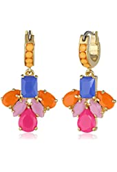 "Carolee ""Rio Radiance"" Small Floral Drop Earrings"