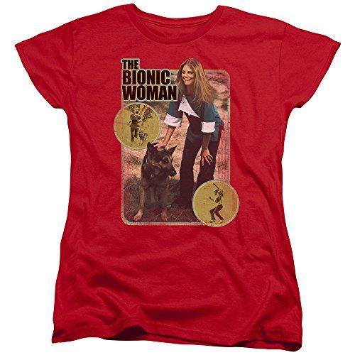 Bionic Woman T-shirt - The Bionic Woman Science Fiction TV Series Jamie And Max Women's T-Shirt Tee