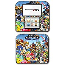 Super Smash Bros Melee Brawl Mario Pikachu Peach Bowser Yoshi Mega Man Zelda Sonic Metroid Video Game Vinyl Decal Skin Sticker Cover for Nintendo 2DS System Console