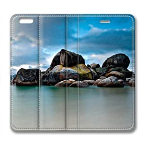 Coastline Leather Cover for iPhone 6 Plus by Cases & Mousepads