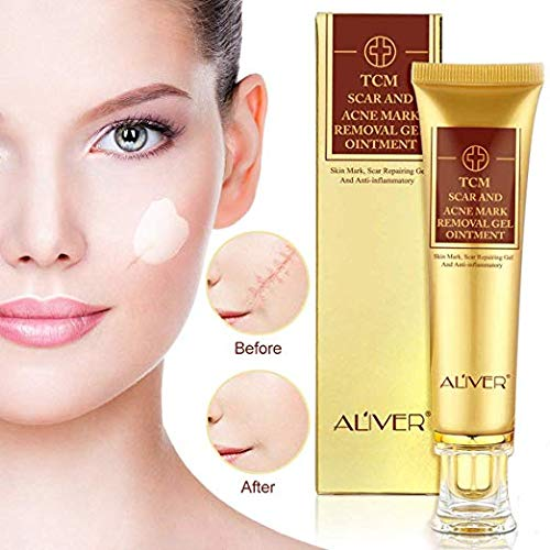 Scar Removal Cream-Advanced Treatment for Face & Body, Old & New Scars from Cuts, C-Sections & Surgeries, Acne Spots, Stretch Mark with Natural Herbal Extracts Formula(30ml)