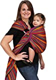 Maya Wrap Lightly Padded Ring Sling Baby Carrier - Bright Stripes - Large