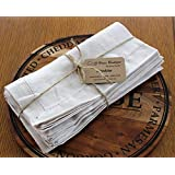 """Linen Napkins Stonewashed 100% Linen Handmade Hemstitched Set of 4 18"""" x 18"""" beige color napkins pre-wased linen napkins"""
