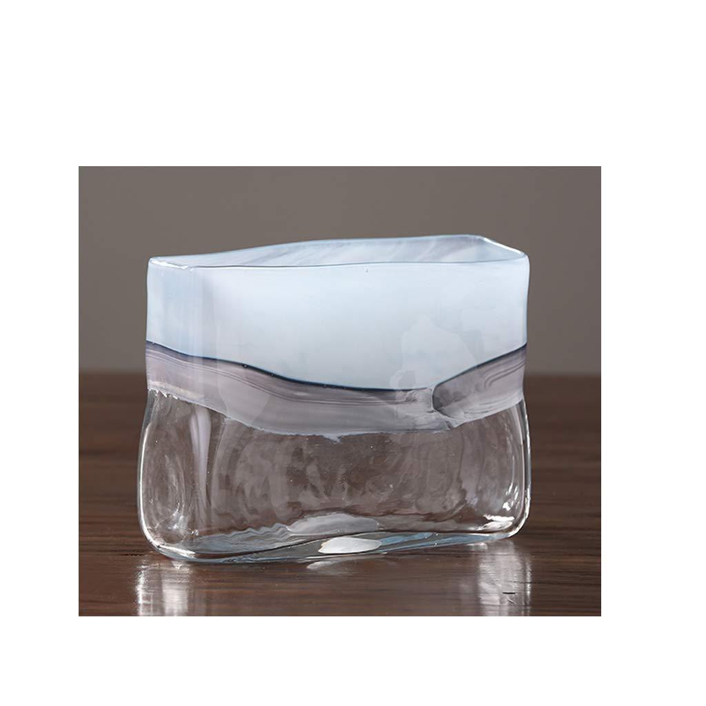 半透明のガラス花瓶のリビングルームのデスクトップの花瓶の装飾/水耕植物コンテナ SHWSM (サイズ さいず : 18×23×9cm) B07RWM6JJF  18×23×9cm