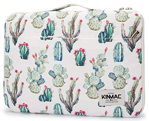 Kinmac Cacti 360° Protective Waterproof 11 inch-12.9 inch Laptop Case Bag Sleeve with Handle for Surface Pro,New MacBook Pro 13
