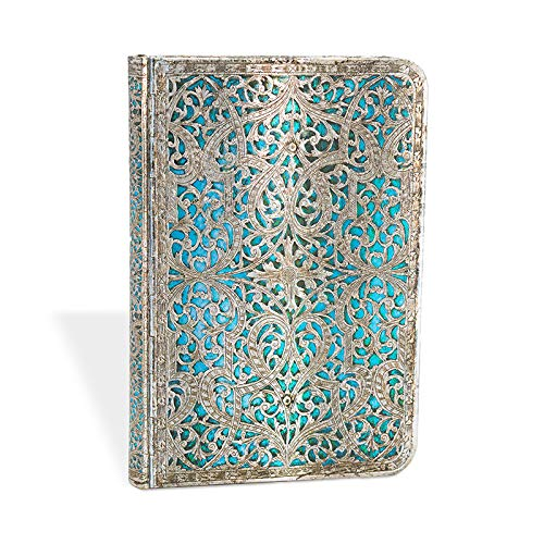- Maya Blue Classic Mini Lined Journal (Silver Filigree)