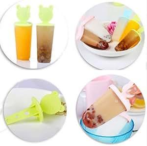 CXLKST 6 Freezer Ice Pop Maker Mold Popsicle Yogurt Ice Cream Frozen Pops Cake Treats