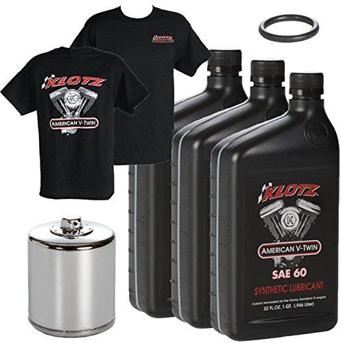 Klotz V-Twin Full Synthetic Oil Change Kit, 60WT 3 Quarts (KN ()