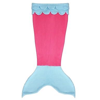 Yizyif Meerjungfrau Decke Handgemachte Häkeln Tagesdecke