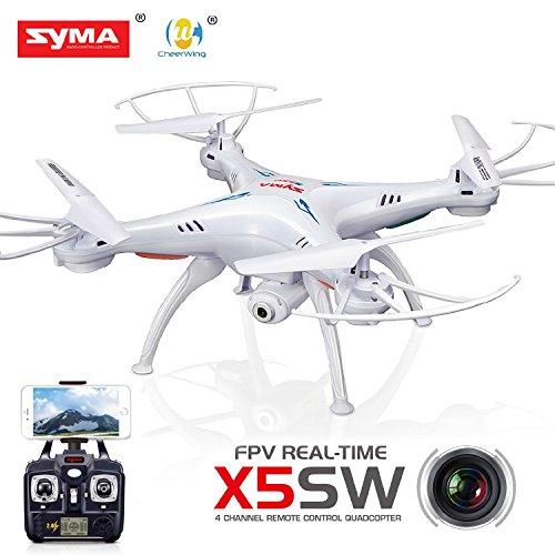 Syma X5SW-1 /X5SW FPV HD Camera WIFI Drone Explorers2 2.4G 4CH 6-Axis Gyro RC Headless Quadcopter White