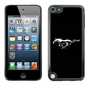 Paccase / SLIM PC / Aliminium Casa Carcasa Funda Case Cover para - Mustang Wild Horse - Apple iPod Touch 5