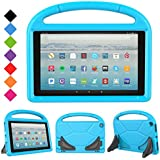 2017 All-New Fire HD 10 Case - LTROP Portable Shock Proof Fire HD 10 Tablet Case for Kids (7th Generation, 2017 Release), Blue