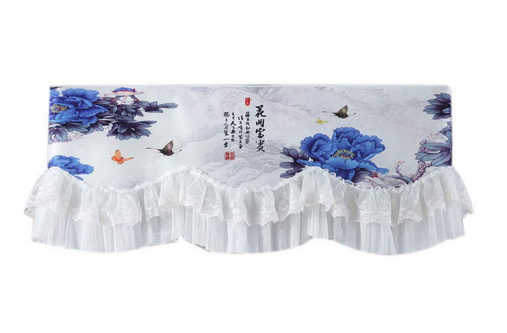 Gentle Meow Home Restaurant Dustproof Air Conditioner Cover, Blue Peony