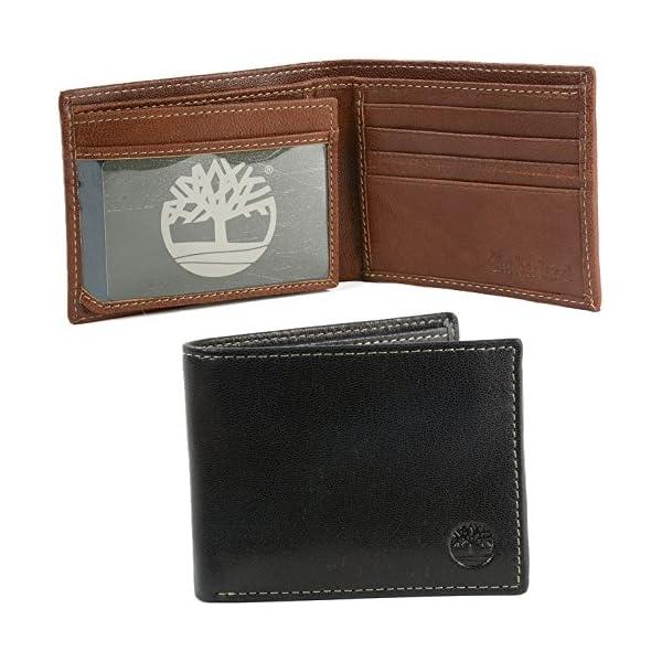 Timberland Men's Genuine Leather Commuter Bifold Wallet