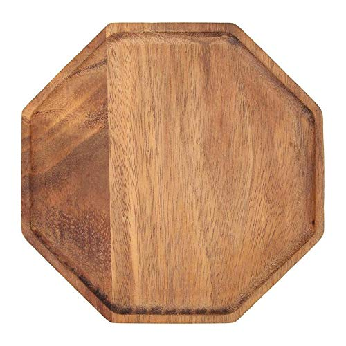 Baguio-Store - Creative Acacia Wood Plate Dishes Rectangle Octagonal Food Dessert Tea Dinner Tray Kitchenware Dinnerware Outdoor Tableware