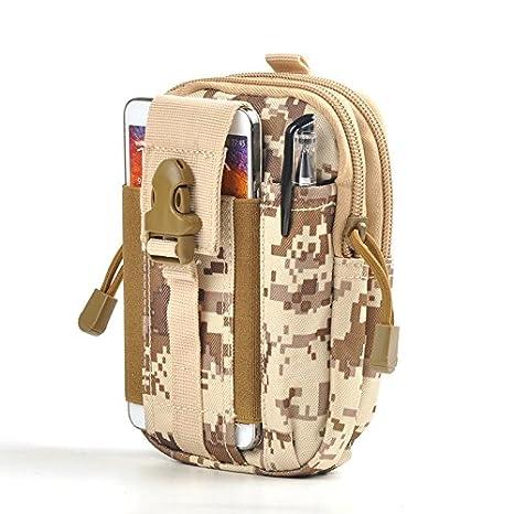 GEZICHTA Tactical Utility Gadget della Cintura Marsupio con Porta Cellulare Telefono Ruin Camouflage Campeggio Hiking Outdoor Gear Telefono Cellulare del Telefono per iPhone 6//6S//7/