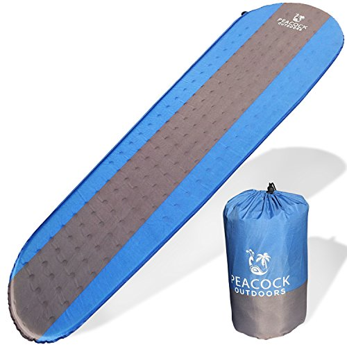 Peacock Outdoors Camping Pad Self Inflating - Premium Lightweight Perfect Gear For Camping,Backpacking & Hiking Easy To Inflate & Deflate by Peacock Outdoors