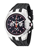 DETOMASO ADRENALINE JUNKIE Mens Chronograph Stainless Steel Watch with Big Date Display & Silicone Strap