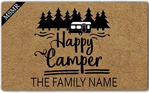 Artswow Door Mat Welcome Mat Personalized Family Name Don t Let The Cats Out Washable Floor Entrance Outdoor Indoor Decor Rug Rubber Non Slip Doormat Non-Woven Fabric 23.6 X 15.7 inches