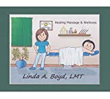 Massage Therapist Personalized Gift Custom Cartoon Print 8x10, 9x12 Magnet or Keychain