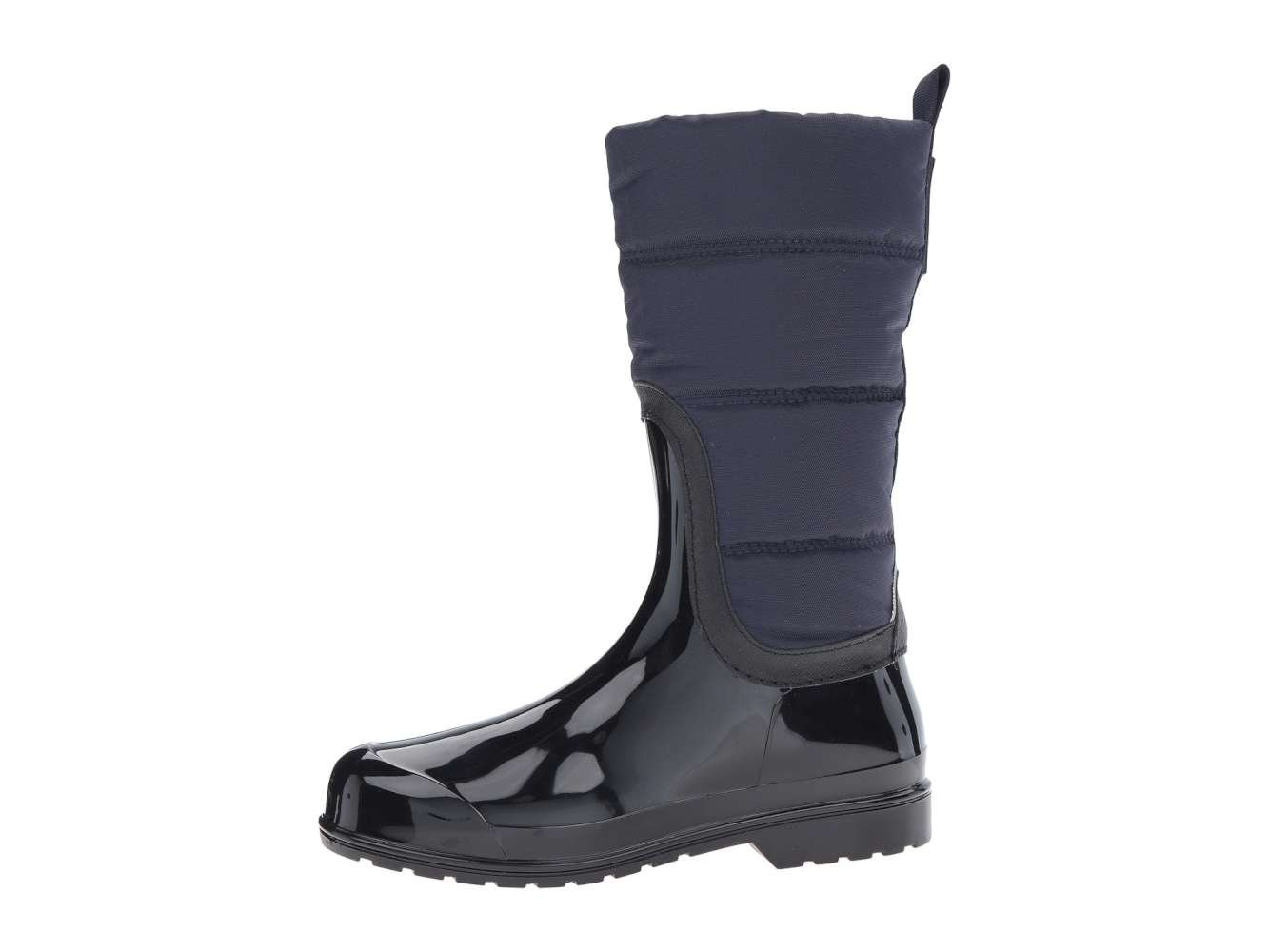 MICHAEL Michael Kors Womens Cabot Quilted Rainboot, Admiral/Black, Size 9.0