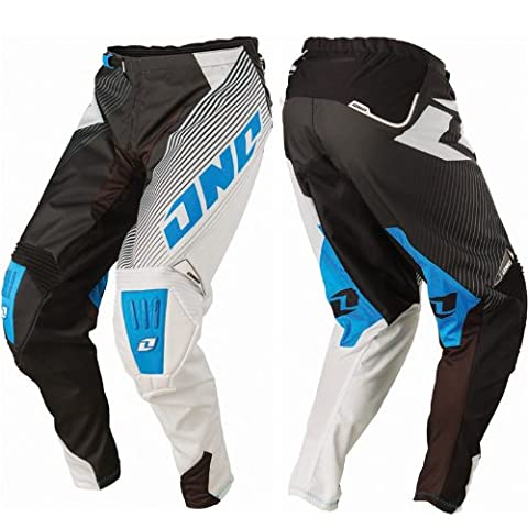 One Industries Gamma Czar DH Pants (Black/Cyan, Size 28) - One Industries Graphics Kits