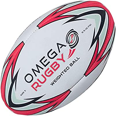 Omega - Pelota de Rugby con Peso, diseño de Pase: Amazon.es ...