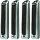 Lasko 34 Inch Electronic Oscillating Ceramic Tower Heater with Remote (4 Pack)