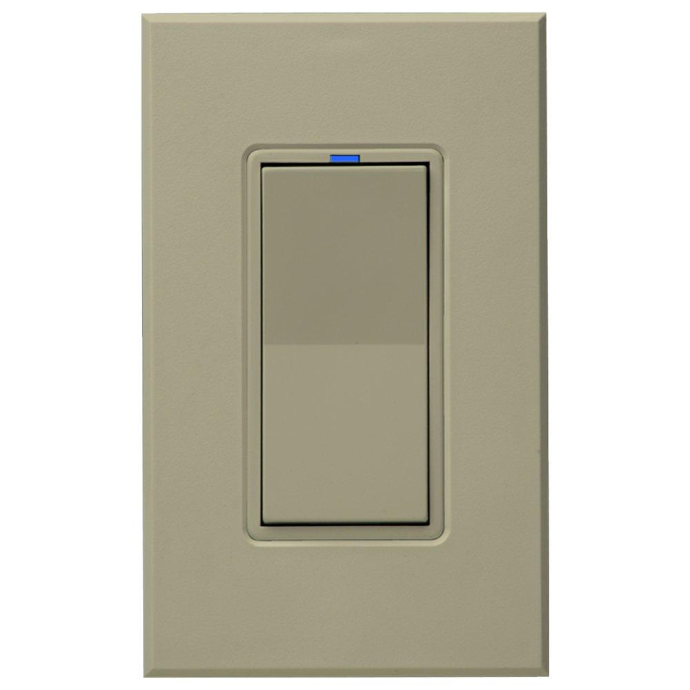 PCS PulseWorx UPB Wall Switch-Relay/Dimmer, Ivory (WS1C-I)