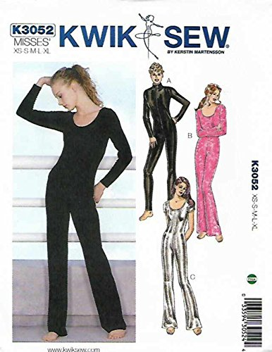 Kwik Sew K3052 Unitards Sewing Pattern, Size XS-S-M-L-XL -